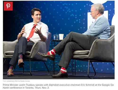 カナダ 首相靴下