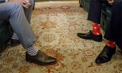トルドー首相 靴下6
