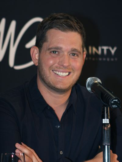 Michael Bublé performing in Sydney, Australia in February 2011.