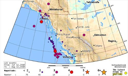 カナダ 地震